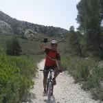 David García, de nosoloruedas, disfrutando de su bici BTT..