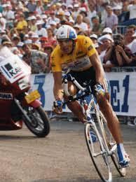 Citas cicloturistas: Induráin participando en una.