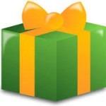 rueda a la carta envuelta para regalo