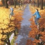 Autumn Cycling, por Rob Gonsales