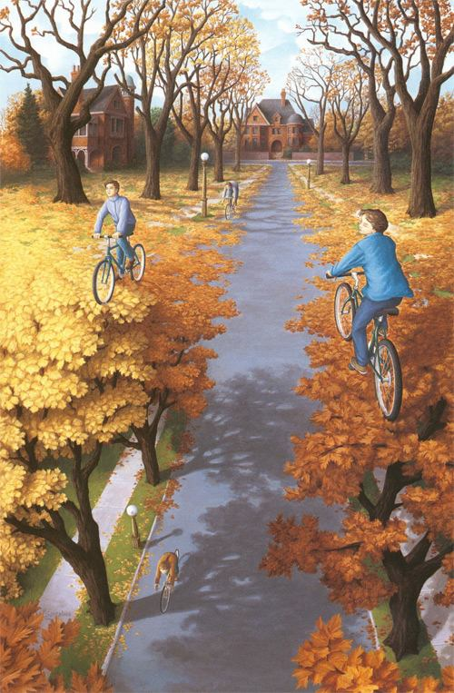 Autumn Cycling, por Rob Gonsales