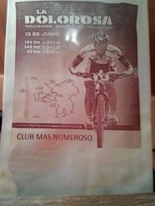 Nosoloruedas Bike Team, premio al Club más numeroso en La Dolorosa 2015.