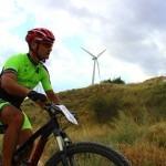 David García, amante del ciclismo en su bici